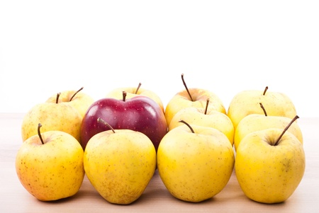 example: Nonconformism leader concept of by example apples