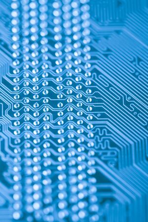 Microchip close up background for technology design photo