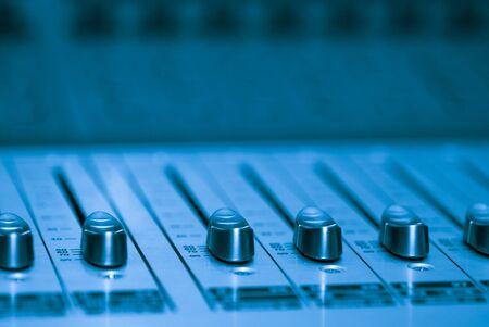 Audio board, selective focus, shallow deep of field photo