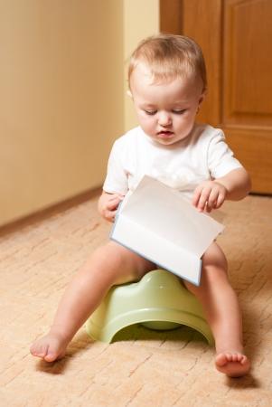 habituation: Baby on the pot, process of habituation