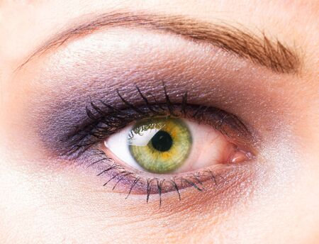 One women's  eye closeup with make up photo