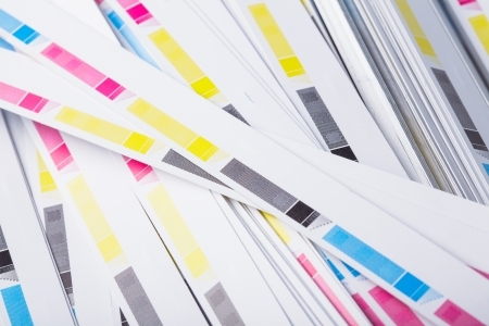 printed matter: Ends of printed matter after cutting, printing industry
