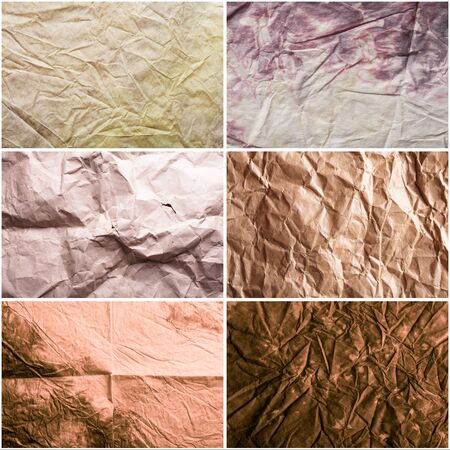 Set of textures of crumpled craft paper Stock Photo - 17304787