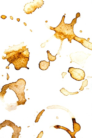 Set with footprints of a cup of coffee or tea Stock Photo - 17708650
