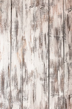 Leere alte schäbige weiß gestrichenem Holzuntergrund