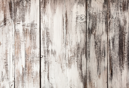 Empty old shabby white painted wooden background Stock Photo - 17708707