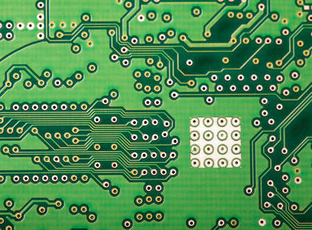 Microchip close up background for technology design Stock Photo - 18539195