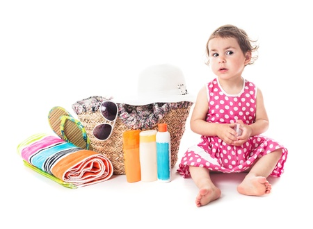 Summer voyage with children - accessories for vocations and toddler girl photo
