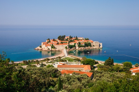 islet: Adriatic Sea, small islet and resort - St. Stefan, Montenegro, Europe
