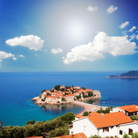 islet: Adriatic Sea, small islet and resort - St. Stefan, Montenegro, Europe
