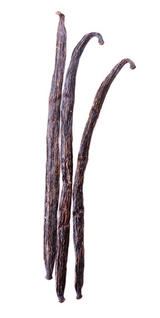 Vanilla pods isolated on the white background