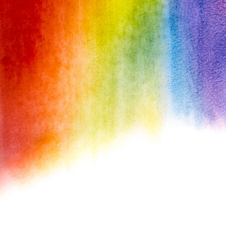 Painted watercolor rainbow background for a design photo
