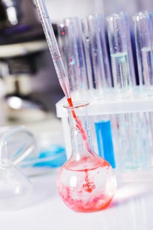 diffusion: Scientist shows a diffusion in the flask