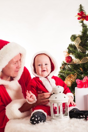 Christmas baby and mom photo