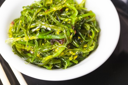 Seaweed salad - healthy sea food in the bowl