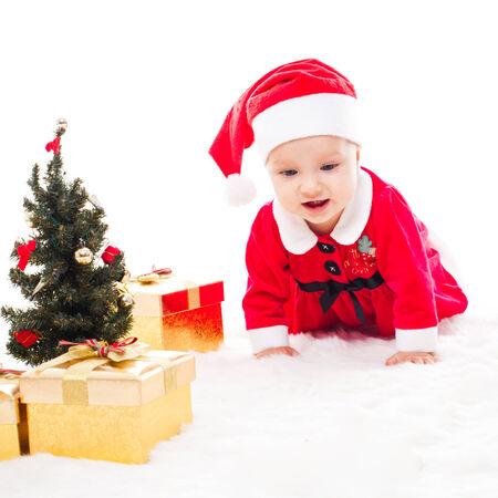 Santa baby girl photo