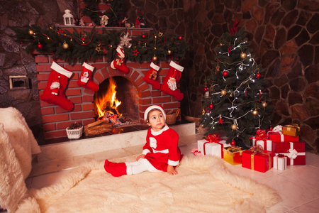 Christmas fireplace photo