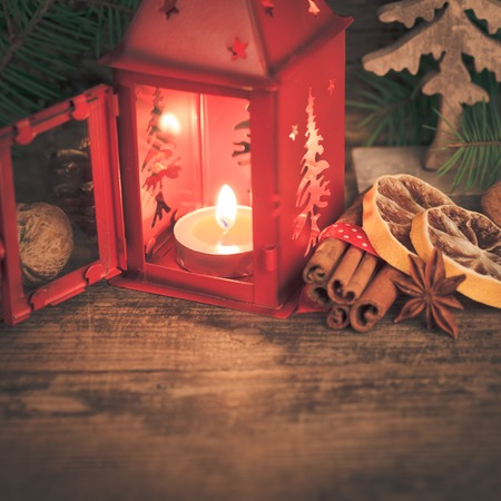 flavours: Red christmas candlestick and flavours of holidays
