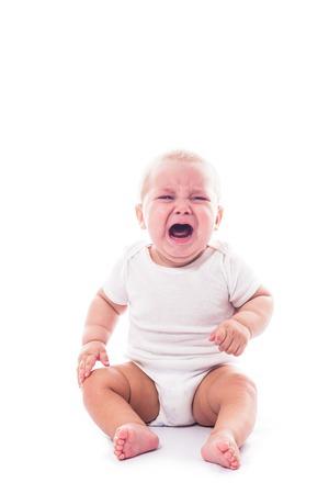 Bebé llorando Foto de archivo