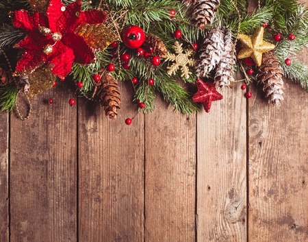 christmas berries: Christmas border design