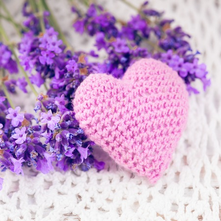 sachets: Lavender sachet Stock Photo