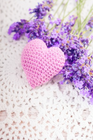 sachet: Lavender sachet Stock Photo