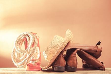 Vintage cowboy tools photo