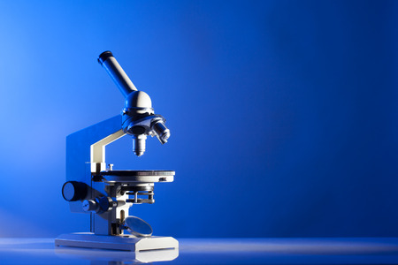 microscope lens: Microscope Stock Photo