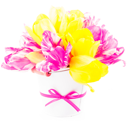 Bouquet from tulips photo