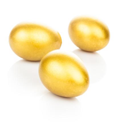 holiday profits: golden eggs isolated