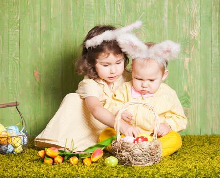 Easter rabbits photo