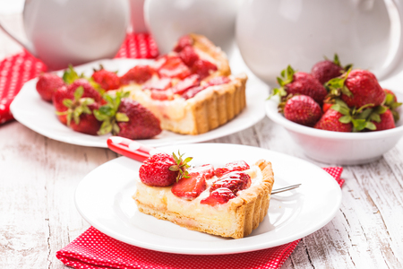 short crust pastry: Strawberry tart Stock Photo