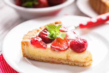 tart: Strawberry tart Stock Photo
