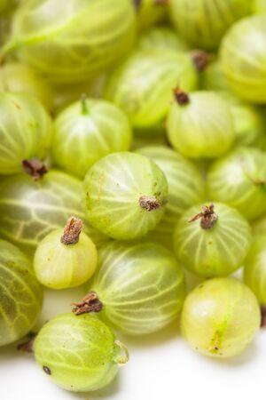 grosella: Gooseberry verde Foto de archivo
