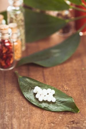 homeopatía: Píldoras Homeopatía Foto de archivo