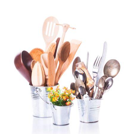 homeware: Wooden and steel utensils