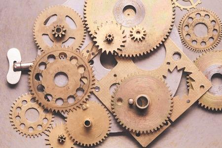 gears background: Steampunk gears background