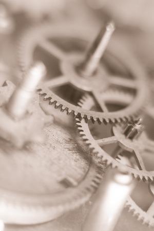 Mechanical watch gears photo