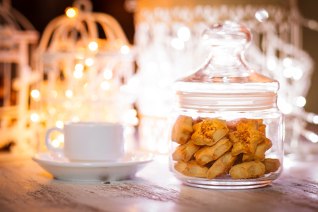 Holiday cookies in a jar photo