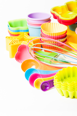 silicone: silicone confectionery utensils Stock Photo