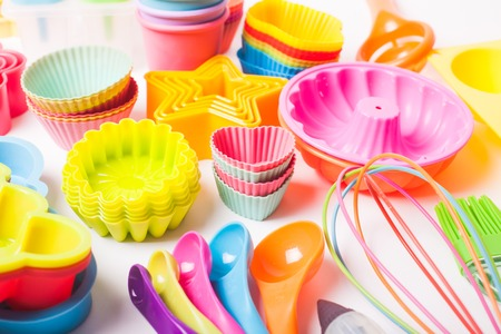 silicone confectionery utensils Stockfoto