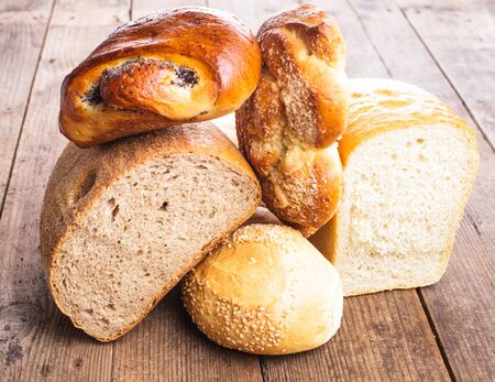 Types of bread photo