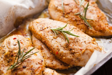 baked chicken breast Stockfoto