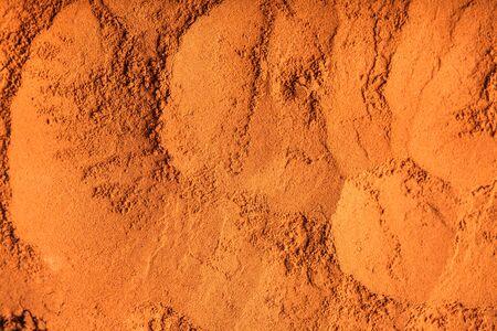 chocolate powder: chocolate powder close up as a background Stock Photo