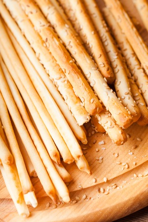 grissini: Different types of grissini - tradition Italian breadsticks