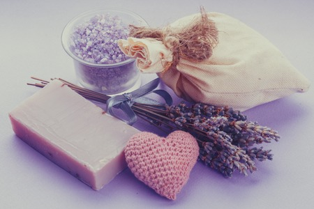 sachet: Dried lavender for aromatherpy and spa: soap, sachet, sea salt