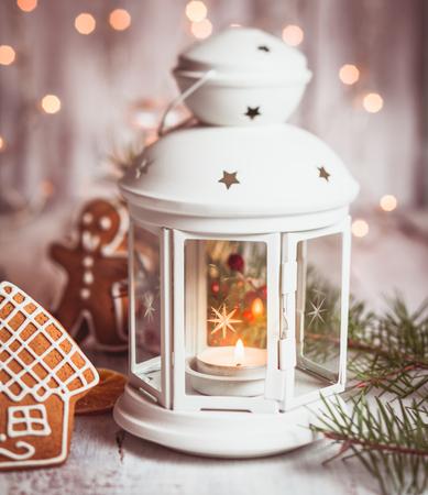 botas de navidad: Holiday candies - Santa stuffs in white bootie, Christmas decor