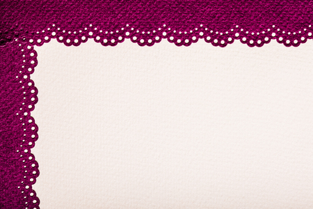 bordo: Scrap paper with lace - beige color and natural texture