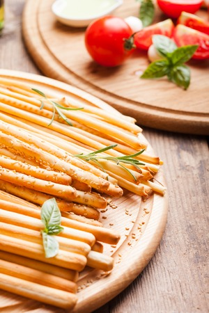 gressins: Different types of grissini - tradition Italian breadsticks