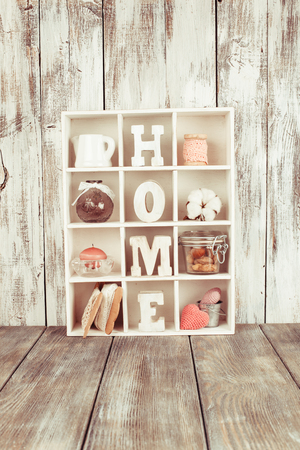 homeware: Shadow box with wooden letters home and cozy things